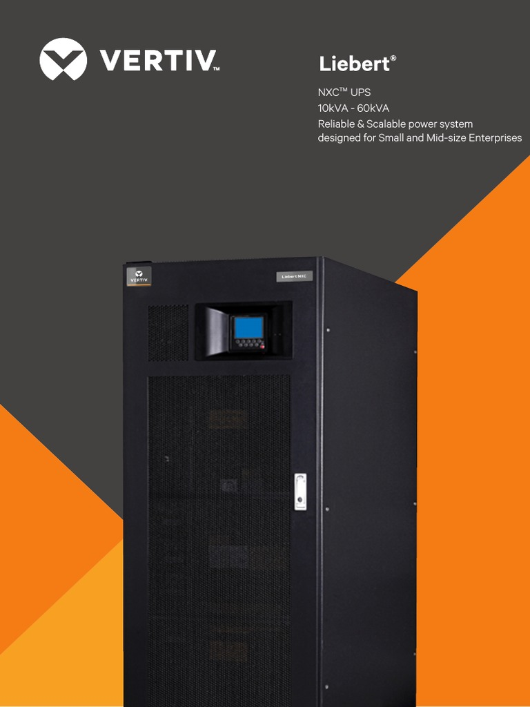 Liebert Nxc Brochure 10kva to 40kva | Battery (Electricity) | Fuse