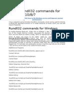 List of Rundll32 Commands for Windows 10