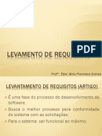 Aula - Levantamento de Requisitos