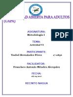 Modulo 6 Metodologia de La Investigacion i