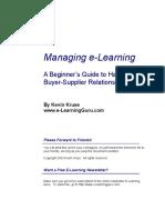 Managing e-learning