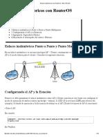 Enlaces Inalámbricos Con RouterOS - MikroTik Wiki