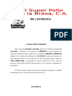 Carta de Trabajo Gregory