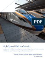 High Speed Rail in Ontario Final Report