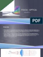 Distancia focal-Optica