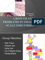 Growth and Problems in Small Scale Industries/sushant