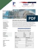 Seal Application Data Sheet | Mechanical Shaft Seal