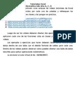 Direccionesvideostutorial Excel 2doaño