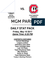 5.19.17 vs. CHA Stat Pack