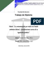 La Contaminación Por Ruido en El Medio Ambiente Laboral . Consideraciones Acerca de Su Regulación Jurídica. Yasniel Mtnez Pérez