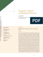 Linguistic, Cultural, And Biological Diversity