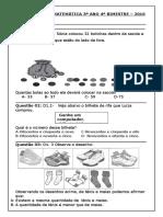 Avaliação de Matemática 3º Ano 4 BIMESTRE Docx