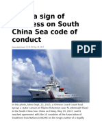 Draft a Sign of Progress on South China Sea Code of Conduct