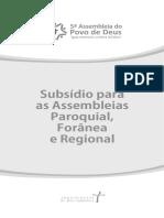 Assembleias Paroquial_ Forânea e Regional