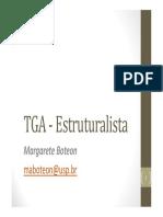 TGA Estruturalista. Margarete Boteon