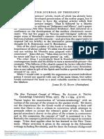 New Testament Concept of Witness by Tritesallison a Cambridge University Press 1977 Pp x 294 1200