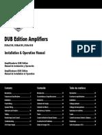 DUB Amp Duba2100 Installation and Operation Manual