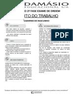 Simulado - Direito do Trabalho - XXII Exame de Ordem - 2ª fase