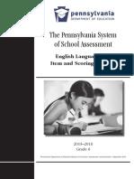 2015 PSSA Item and Scoring Sampler English Language Arts Grade 6