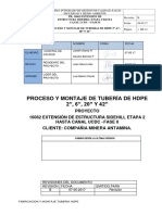 """CHC-PROC-P001-PROCESO Y MONTAJE DE TUBERÍAS DE HDPE 2"""", 6"""", 20"""" Y 42"""".pdf"""