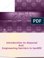 Introduction to Disposal and Engineering Barriers in Landfill
