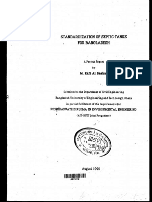 Full Thesis  pdf | Septic Tank | Sewage Treatment