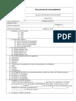 Evaluacion de Conocimientos Induccion Sae 2017