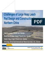 Alan Lu Challenges of Large Heap Leach Pad Design in Northern China