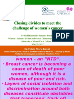 Closing divides to meet the challenge of women´s cancer