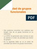 Prioridad de Grupos Funcionales