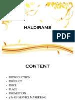Haldirams Services