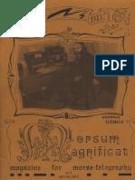 Morsum Magnificat, The Original Morse Magazine-MM03