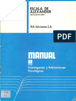 Manual Escala de Alexander