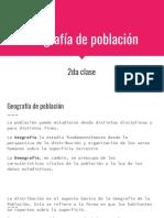 2 - Geografía de La Población