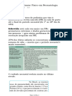 Anamnese + Exame Físico em Neonatologia