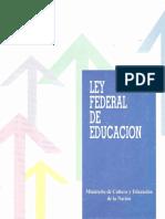Ley Federal de Educación (24.195)