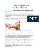 Hemorroides Después Del Parto Remedios Caseros