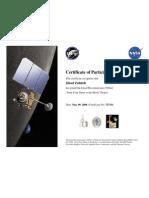 Nasa Certificate