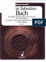 J.S Bach ,Complete Two-Part Inventions for two guitars - Anton Stingl -Schott Editions.pdf