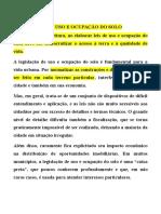 Legislação de Uso e Ocupação Do Solo o Objetivo Da Prefeitura