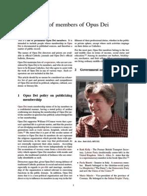 List of Members of Opus Dei | Creative Commons License | Spain