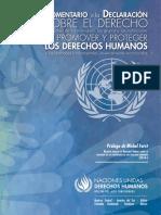 Comentario a la Declaración sobre defensoras y defensores de derechos humanos