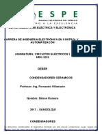 CONDENSADOR CERAMICO