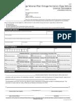 Vehicle Concession Registration Form