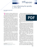 The 100 People Most Influencing the Specialty of Orthodontics, 1915-2014