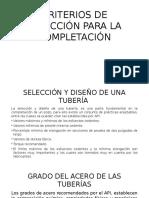 Diapo Expo- Criterios de Selección Para La Completación