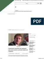 Facebook e Dados de Usuários