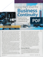 Using Cloud for Business Continuity