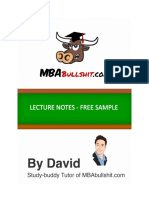 Free Sample Lecture Notes