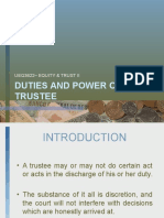 Duties & Powers of Trustees